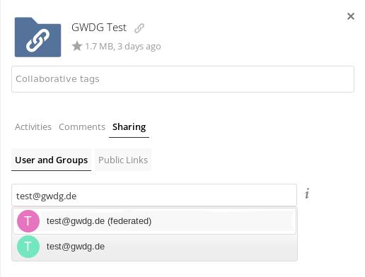 Teilen Benutzern und Gruppen